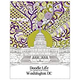 Tree-Free Greetings Adult Coloring Book- Stress Relief, Mindfulness and Relaxation for Grown Ups and Kids, 8.5 x 11 Inches, Washington DC Life (DB13813)