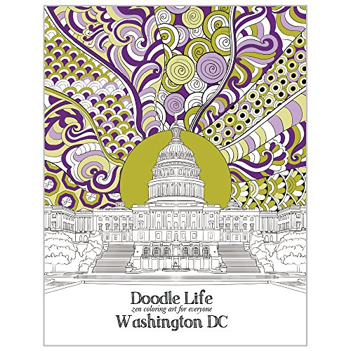 Tree-Free Greetings Adult Coloring Book- Stress Relief, Mindfulness and Relaxation for Grown Ups and Kids, 8.5 x 11 Inches, Washington DC Life - Outlet Dc Washington