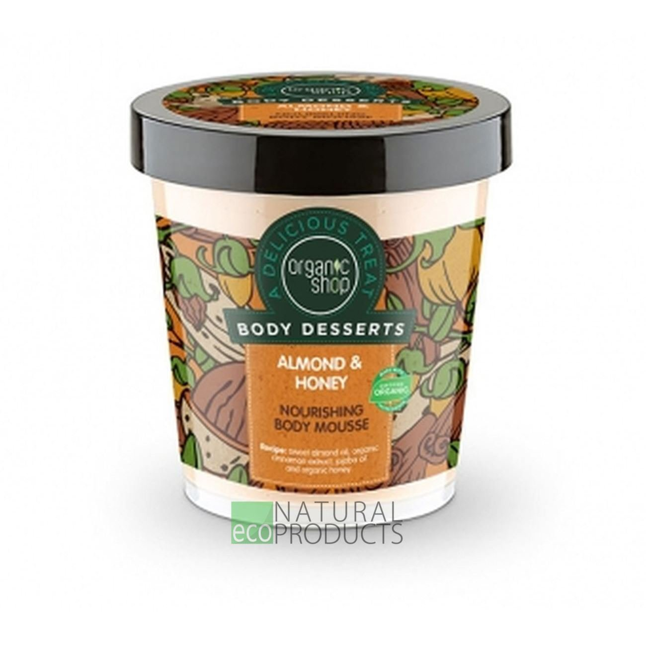 Organic Shop Body desserts Almond & Honey Nourishing Body Mousse 450ml by Organic Shop