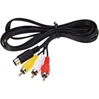 TechFlo Composite RCA Audio Video AV Connection Cord Cable for Sega Genesis 2 or 3