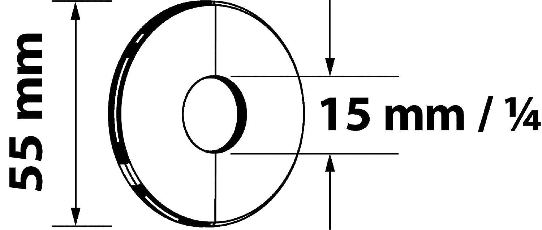 Sanitop-Wingenroth Charni/ère Rosace lot de 2 18/mm ou 3//8/ lot de 2 diam/ètre ext/érieur 55/mm m/étal chrom/é 19274/3