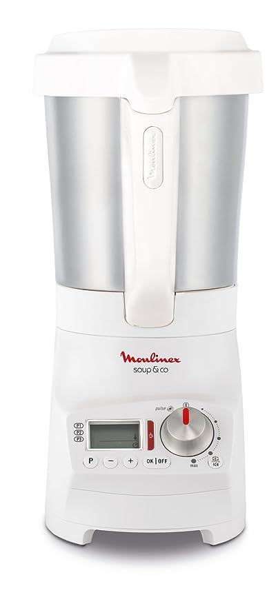 Moulinex lm904110 licuadora calefacción Soup & Co batidora sopas Gaspachos Smoothies compotes 1100 W 1,