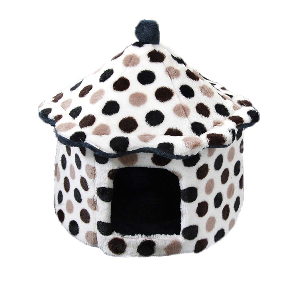 S HFF Pet Nest, Cat Room, Pet Bed, Washable Kennel, Warm, Four Seasons Cat Litter, General House, Dog Pet Bed (white) (Size   S)