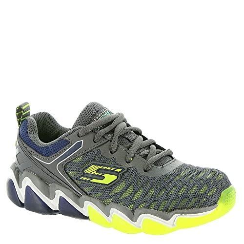 7a51cf571945 Skechers Skech Air 3. 0-97414WL Boys  Toddler-Youth Sneaker 11 W US Little  Kid Charcoal-Lime-Navy  Buy Online at Low Prices in India - Amazon.in
