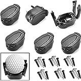 Brccee AC 6 PCs Golf Ball Pick Up Retriever Grabber Claw Sucker Tool Mini Foldable Plastic Claw Grabber Sucker Golf…