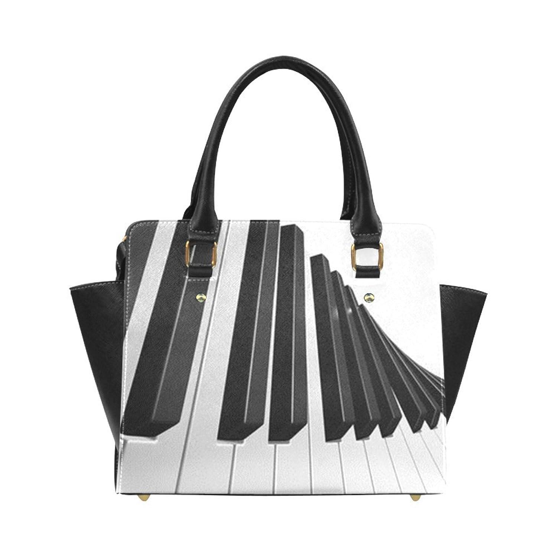 deardaling Artist Piano Keys Custom Handbag Fashion Shoulder Bag PU leather Women's Handbags