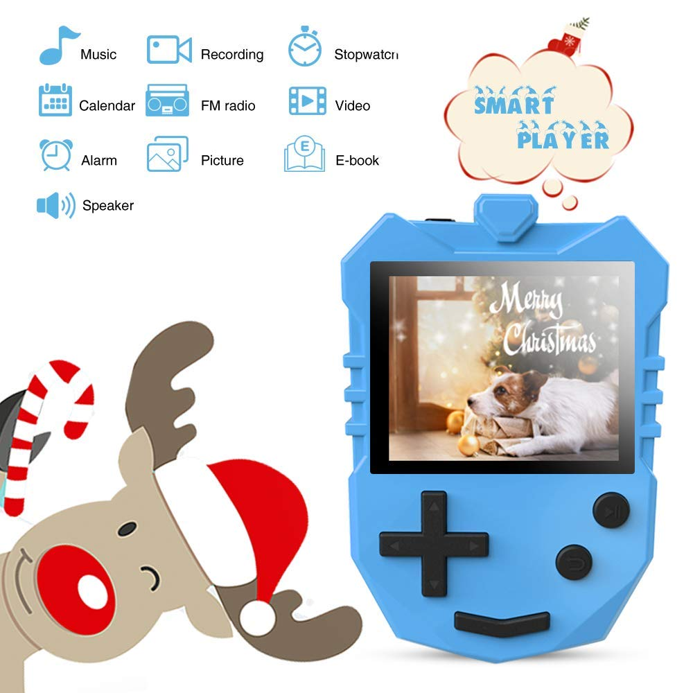 MP3 Player for Kids, AGPTEK K1 Portable 8GB Children Music Player with Built-in Speaker, FM Radio, Voice Recorder, Expandable Up to 128GB, Blue, Upgraded Version by AGPTEK (Image #5)