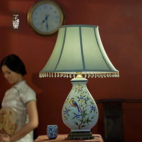 Lámpara de mesa de cerámica pintado a mano retro/Sencillo de ...