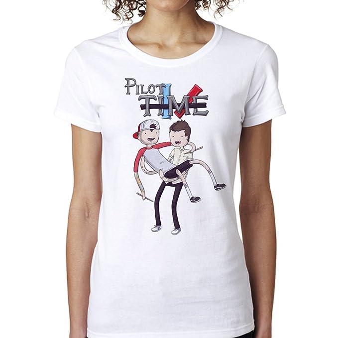 Twenty One Pilots Cute Pilot Time Parody for Women T-Shirt