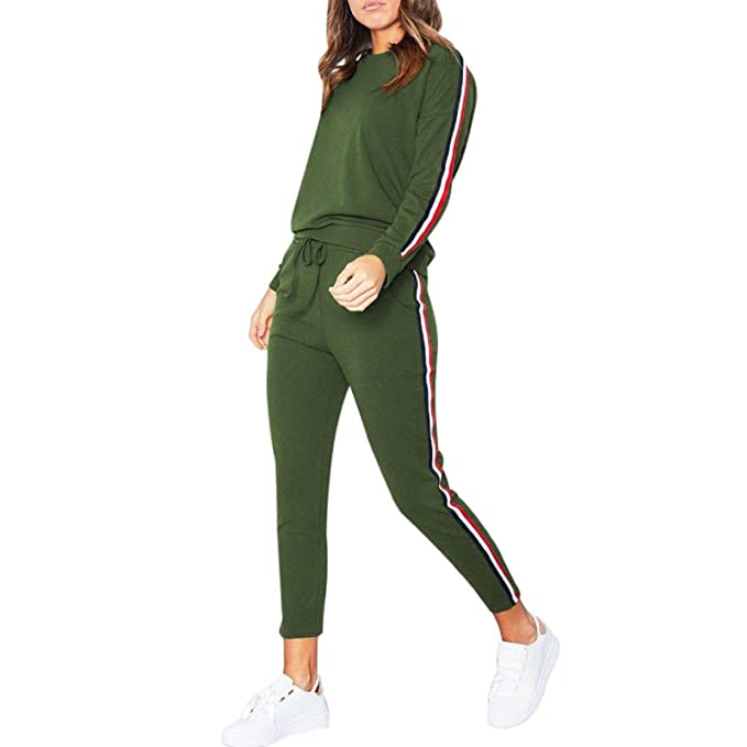 Womens Tracksuit Hoodies Sweatshirt Pants Sets Sport Wear Zipper Casual Suit UK