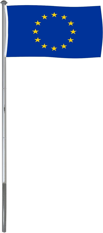 BRUBAKER Mástil Aluminio Exterior 6 m Incluye Bandera de Comunidad Europea 150 x 90 cm y Soporte de Tierra: Amazon.es: Jardín
