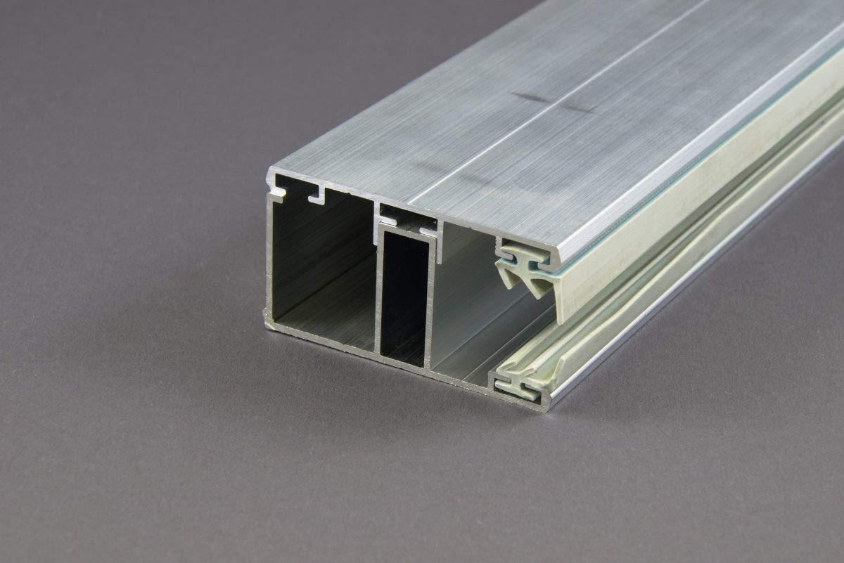 Stegplatte Verbindungsprofil Profile Mitte f/ür 16mm Stegplatten Alu//Gummi 4,5 Meter