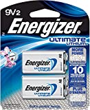 Health & Personal Care : Energizer Ultimate 9 Volt Batteries, Lithium 9v Battery (2 Count) L522BP-2