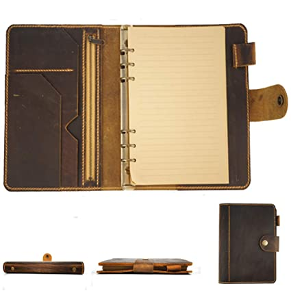 Amazon.com : Leather Organizer Agenda Vintage Binder Diary ...