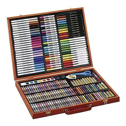 amazon com crayola 200 piece masterworks art case toys games