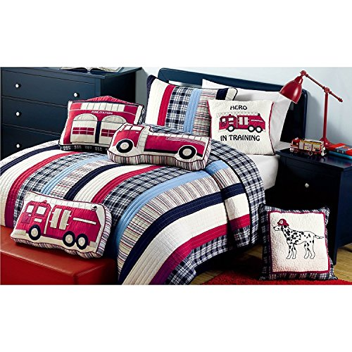 Nautical Striped Kids Bedspread Quilt Set Full/Queen by C...