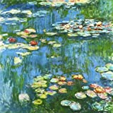 Canvas Prints Of Oil Painting ' Water Lilies, 1897-1899 By Claude Monet ' , 30 x 30 inch / 76 x 76 cm , High Quality Polyster Canvas Is For Gifts And Dining Room, Foyer And Game Room Decoration, HD