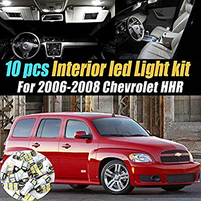 Amazon Com 10pc Super White 6000k Car Interior Led Light Bulb Kit