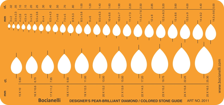 Jewellery Jewelry Art Craft design Drawing Drafting template stencil/ /pera brillante diamante Colored Gemstone guida ovale forme simboli
