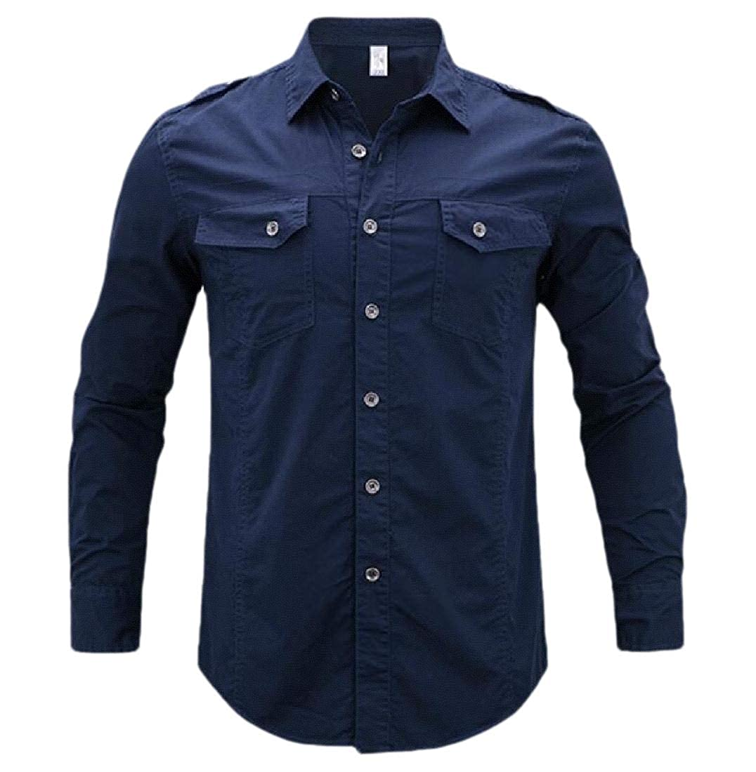 hower Men Outdoor Quick Dry Breathable Convertible Long Sleeve Rip-Stop Shirt