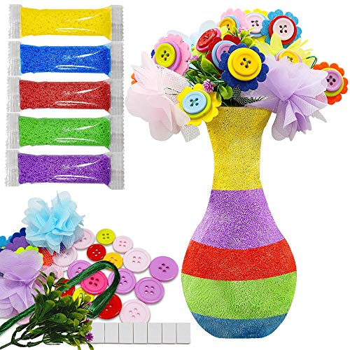 Create Your Own Vase and Felt Flower Set