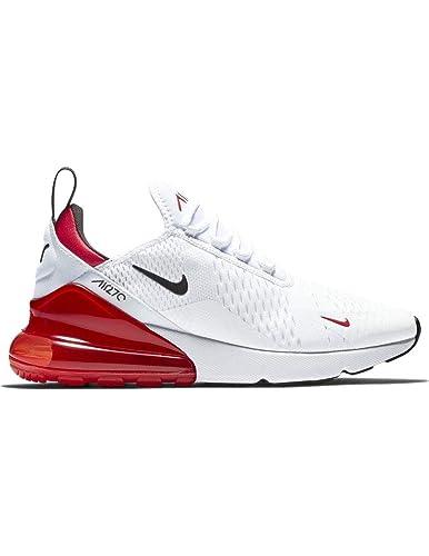29fae2b7df212 ... spain nike air max 270 mens white black university red nylon basketball  shoes 9 1235f 4231d