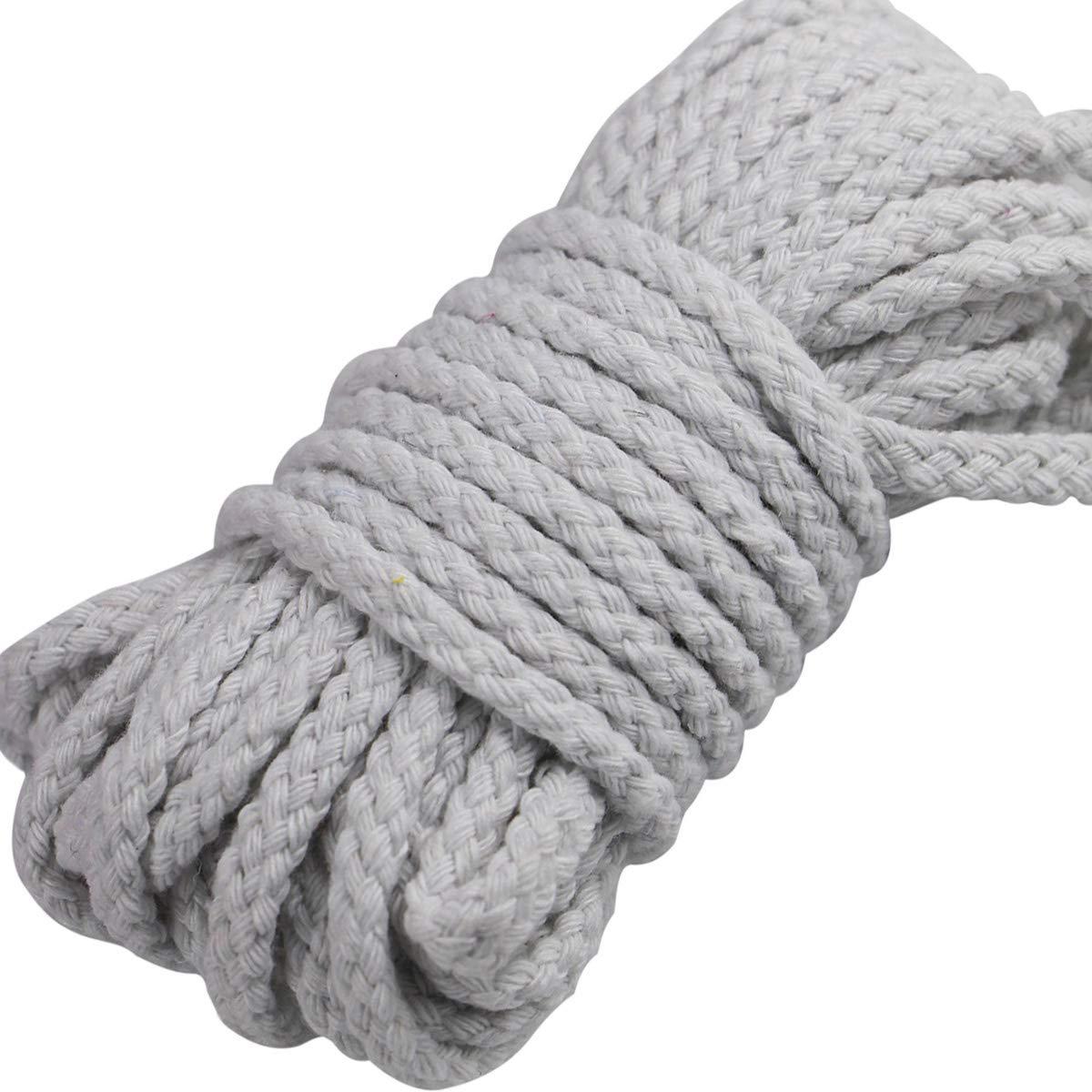 White Gouert 5 m Baumwollkordel 7mm Baumwollseil Bunt Seil