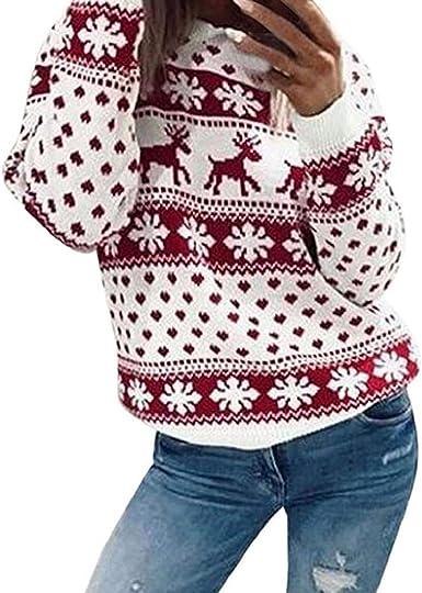 Suéter Navideño Mujer De Punto Rudolf Reindeer Señoras ...