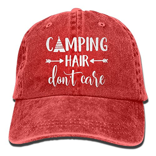 Mens Accessories Vintage Hats - HHNLB Unisex Camping Hair Don't Care-1 Vintage Jeans Baseball Cap Classic Cotton Dad Hat Adjustable Plain Cap