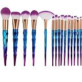 Tenmom Pinceles Maquillaje, Brochas Unicornio, Brochas de Maquillaje Unicornio Set, Face Eyeshadow Foundation Liquid Blush Pi