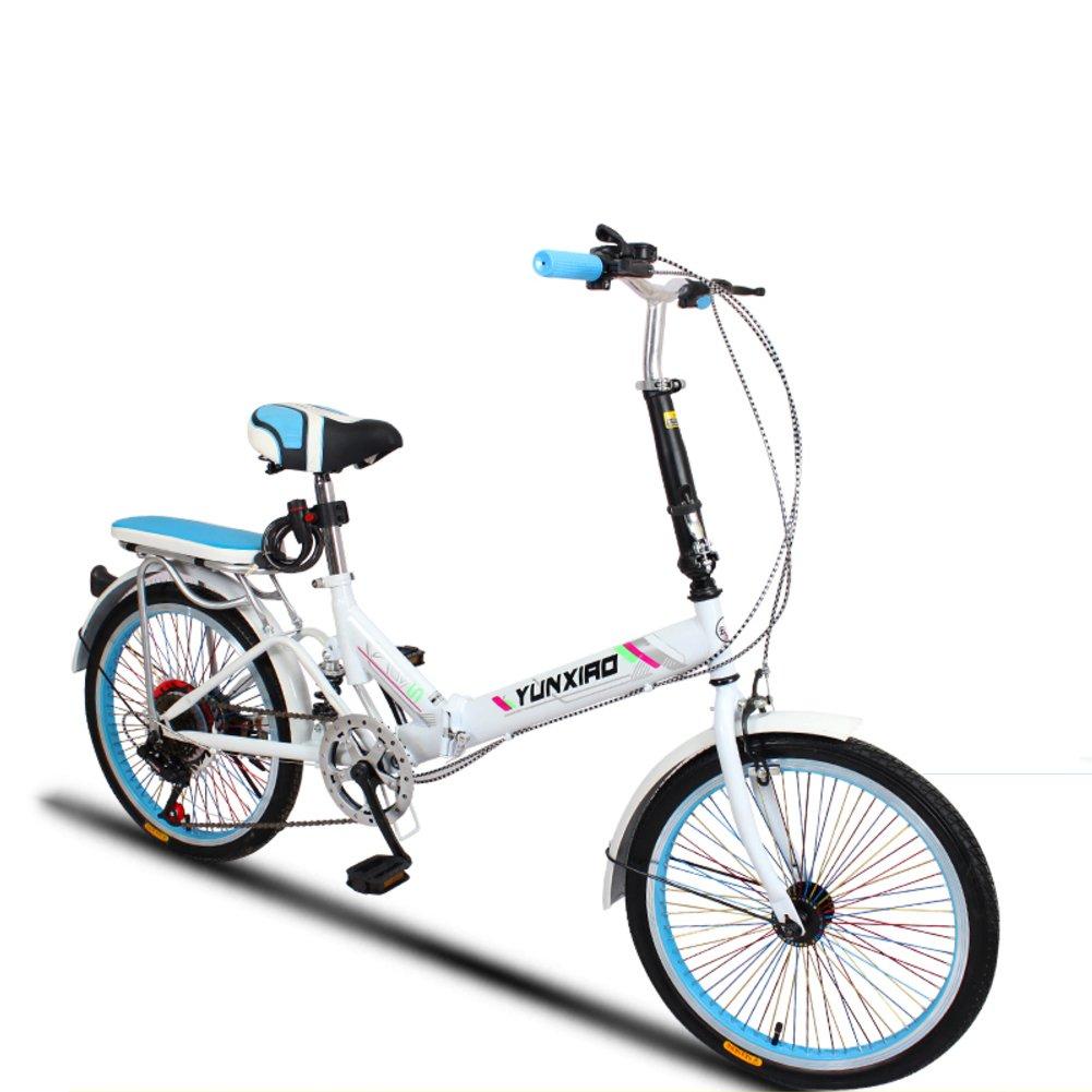 学生折りたたみ自転車, 折りたたみ自転車 女性のサイクリング 超軽量 ポータブル 変数の速度のミニ シマノ 6 速 男性 折り畳み自転車20inch B07DFDTXZV