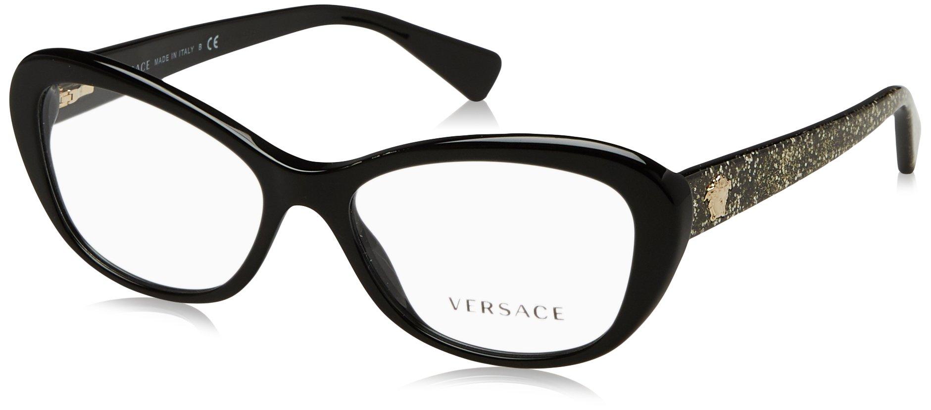 Versace VE3216 Eyeglass Frames 5156-54 - Black