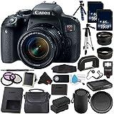 6Ave Canon EOS Rebel T7i DSLR Camera 18-55mm Lens 1894C002 Value Bundle - International Version (No Warranty)