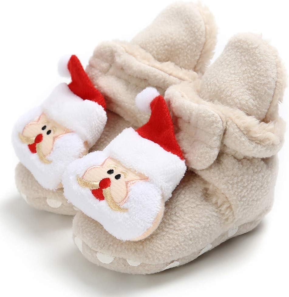 Baby Boys Girls Cozy Fleece Booties Warm Winter Christmas Slippers Socks Infant Crib Shoes Birthday Gift