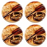 MSD Round Coasters Vintage magnifying glass and compass - Best Reviews Guide