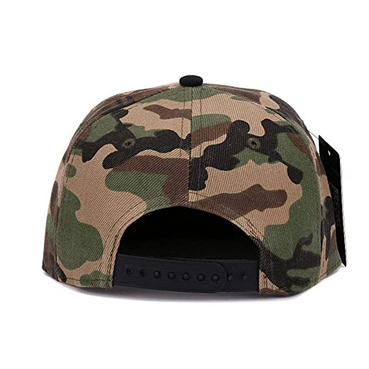 Camouflage Snapback Polyester Cap Blank Flat camo Baseball Cap with no Embroidery Mens Cap and hat for Men and Women (Black Camo) at Amazon Mens Clothing ...