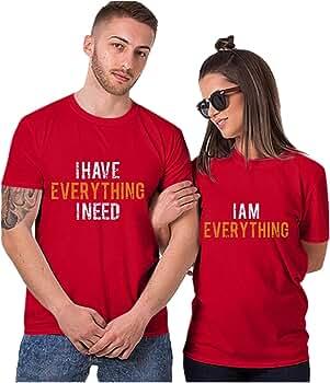 HULKY - Camiseta de Manga Corta para Mujer y Hombre, diseño de Letra Rojo XXX-Large: Amazon.es: Ropa y accesorios
