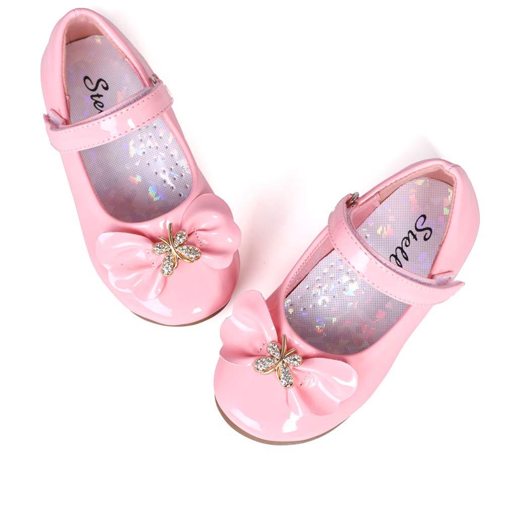 STELLE Girls Mary Jane Shoes Slip-on Dress Flat for Kids Toddler