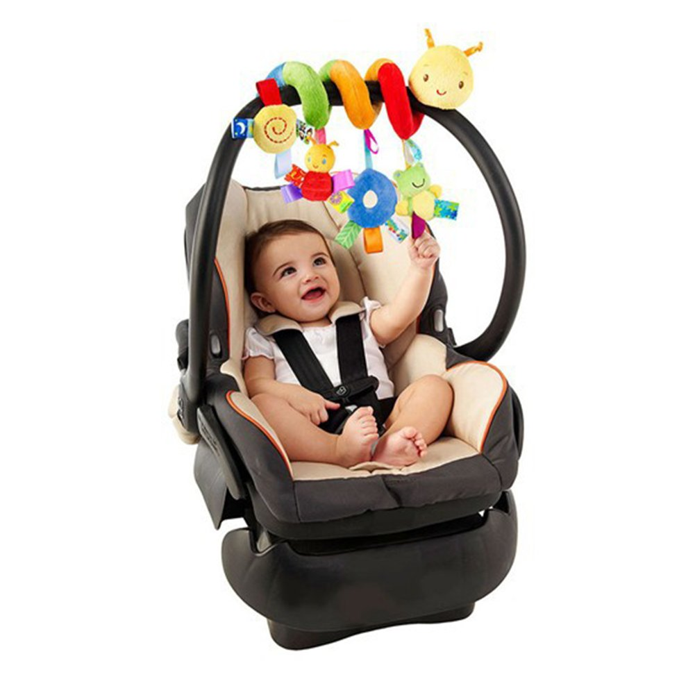 Baby Stroller Toy Spiral Activity Bed Cot Crib Hanging Rattle Toy Car Seat Pushchair Pram Toy For Infant Newborn Gift