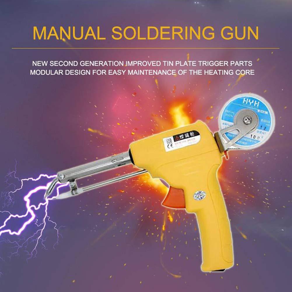 Wecando NL - 110V/106A Manual Soldering Gun 60W One-Hand Lead Universal Soldering Gun Kit (Yellow) by Wecando (Image #4)