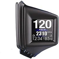 Universal Heads Up Display,Dual System Multifunctional Trip Computer Digital Car HUD OBD2/GPS Gauge Speedometer,Play…