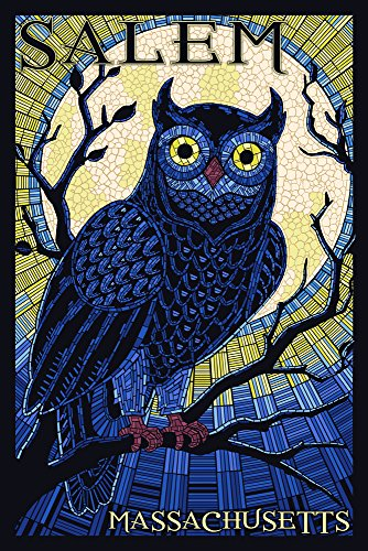 Salem, Massachusetts - Owl Mosaic - mosaic wall art