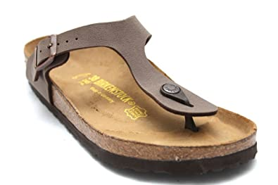 9e156b9c70fe7 Image Unavailable. Image not available for. Colour  Birkenstock Gizeh  Womens Brown Toe Post ...
