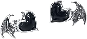 Alchemy Gothic Blacksoul Pewter Stud Earrings
