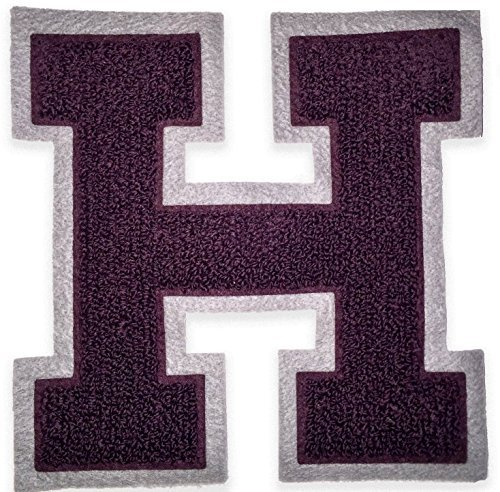 Chenille Varsity Letterman Jacket Patch H Capital Letter Premium Quality Embroidered - Varsity Jacket Patches