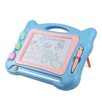 Tablero de Dibujo Magnético Pizarra Borrable con 3 Sellos Juguete para Aprendizaje Temprano Educativo para Garabatear y Escribir para Niños/As de 3 4 ...
