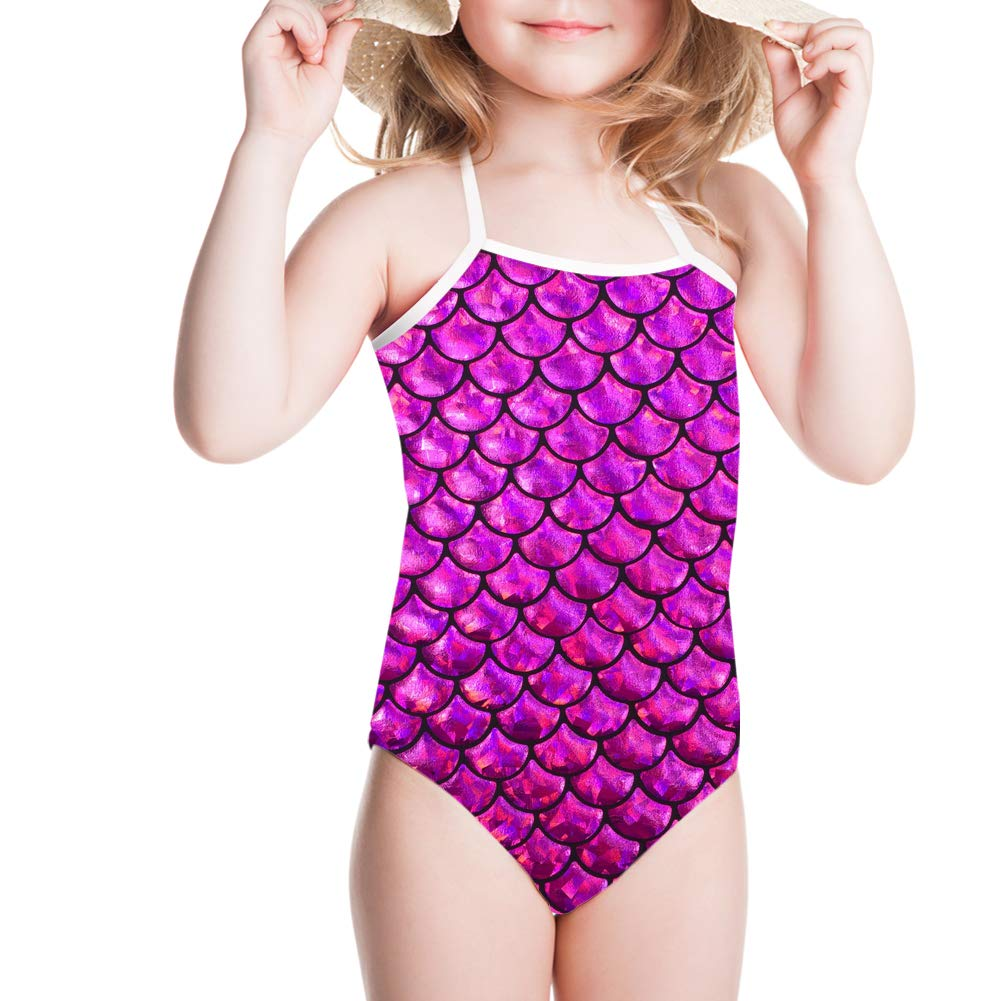 Coloranimal Summer Beach One Piece Swimsuit for Child Girls 3Y-8Y Cute 3D Animal Print Suit