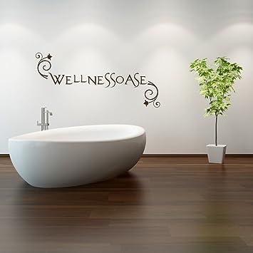 malango® Wandtattoo Wellnessoase Badezimmer Bad Wellness ...