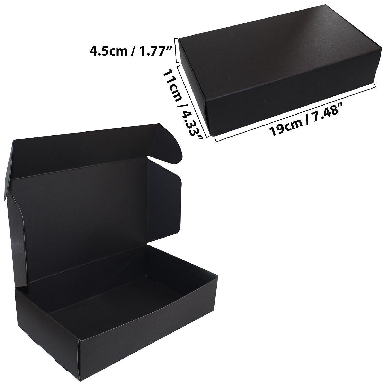 Mariages Livrées à Plat Boîtes Noires de Présentation pour Fêtes Biscuits et Bijoux PTKOONN CB-502 Kurtzy Lot de 10 Boites Carton Cadeau 19 x 11 x 4,5 cm Boite Emballage pour Gâteaux