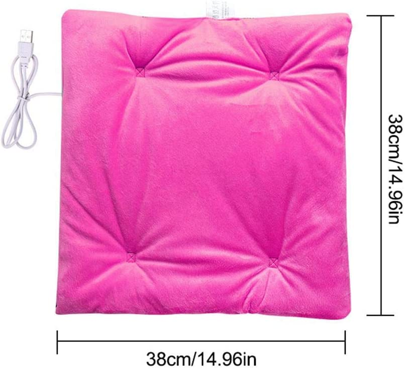 ZABB USB Heating pad Electric Heating Office Cushion Electric Heating Cushion USB Office Chair Heating Pad for Autumn and Winter